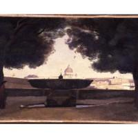 Tableau  La vasque de l'Académie de France à Rome