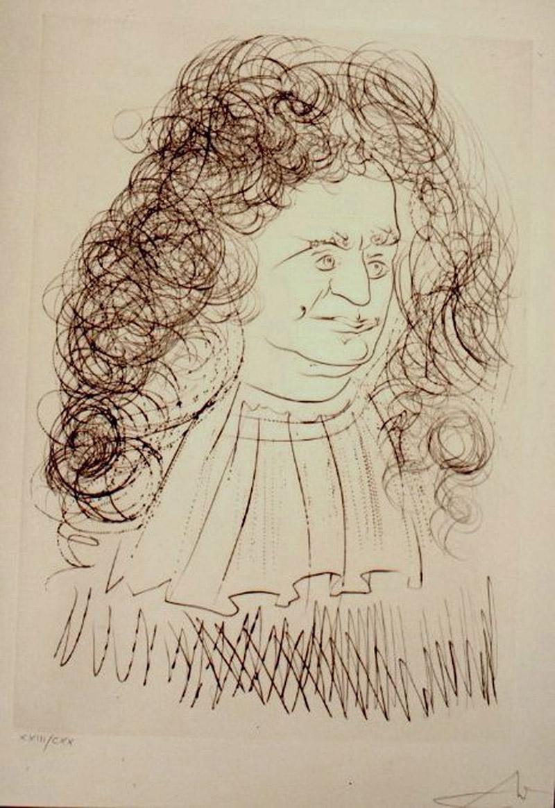 46128dddcf8 Portrait de Jean de La Fontaine