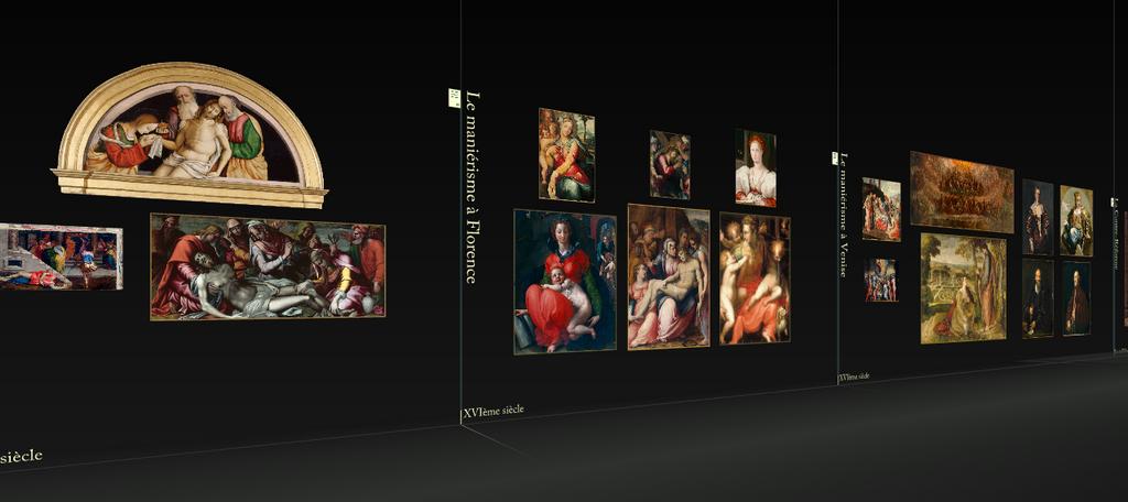 Parcours chronologique dans l'exposition virtuelle